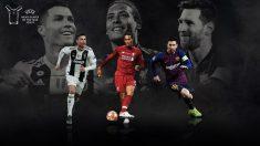Cristiano Ronaldo, Van Dijk y Leo Messi son los finalistas.
