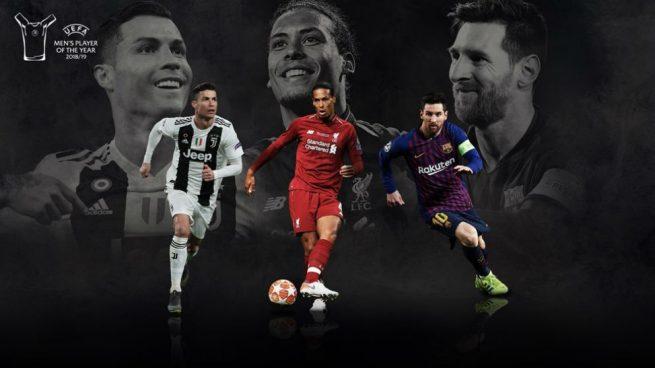 Cristiano Ronaldo, Messi y Van Dijk, finalistas al premio de Mejor Jugador de la UEFA