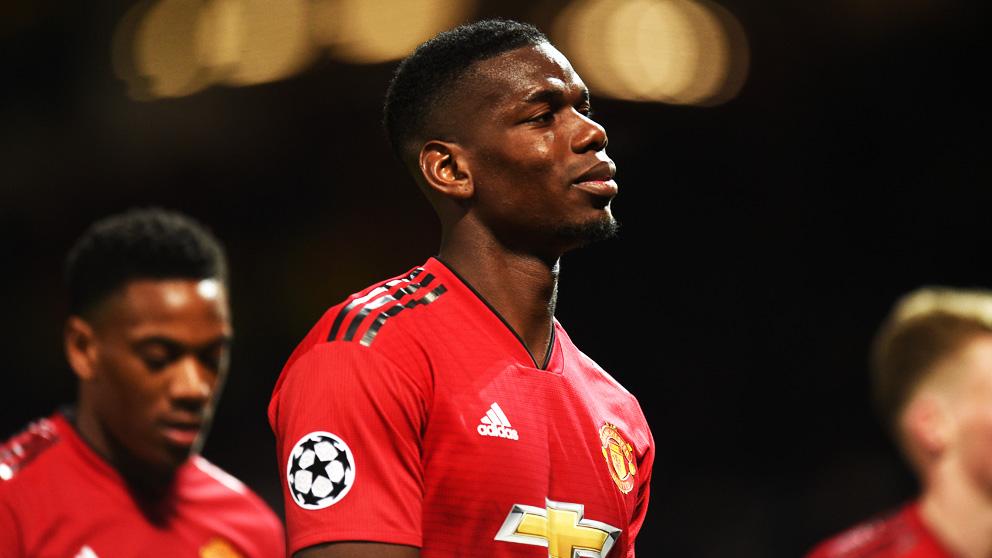 Paul Pogba, en un partido con el United.