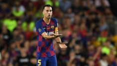 Busquets, en un partido con el Barcelona. (Getty)