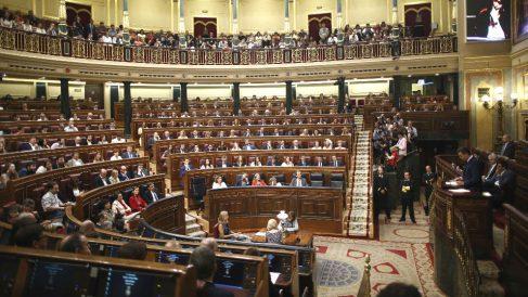Vista del hemiciclo del Congreso de los Diputados durante la segunda votación para la investidura del candidato socialista a la Presidencia del Gobierno. (Foto: Europa Press)
