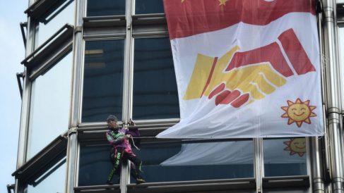 Alain Robert en Hong Kong @Getty