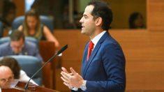 Ignacio Aguado, líder de Ciudadanos en su intervención en la Asamblea de Vallecas @Getty