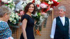 La presidenta de la Comunidad de Madrid, Isabel Díaz Ayuso, en las fiestas de La Paloma. Foto: EP