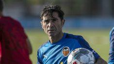 Marcelino  entrenando (Valencia Club de Fútbol)