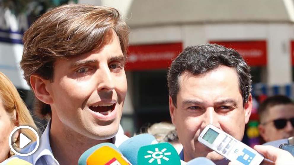 Pablo Montesinos y Juan Manuel Moreno Bonilla. (Ep)