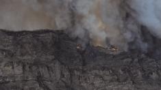 Incendio en Valleseco, Gran Canaria. @Cabildo