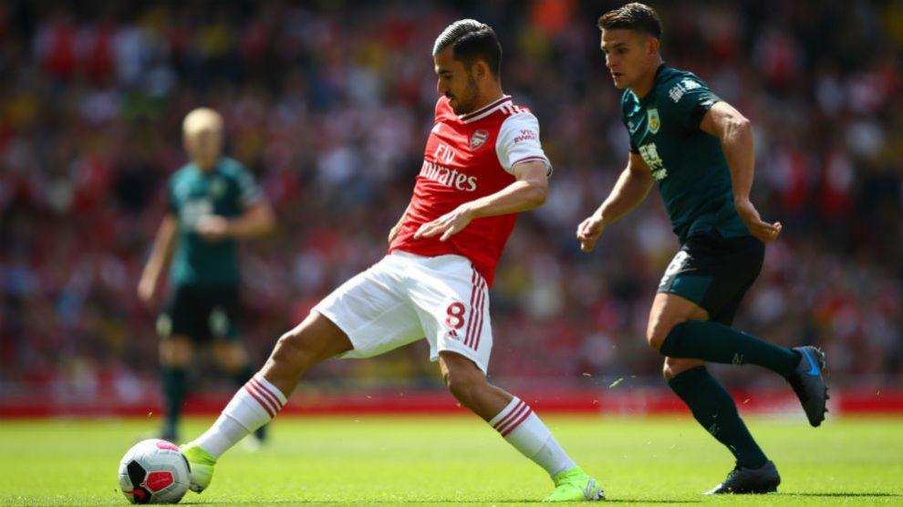 Dani Ceballos, en su primer partido en el Emirates. (Getty)
