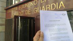 Denuncia de Vox por la presencia de carteles a favor de presos de ETA en las fiestas de Bilbao. (Twitter)
