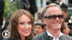 Peter Fonda y Parky De Vogelaere en la 64 edición del Festival de Cannes. (Ep)