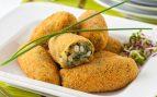 Croquetas de espinacas con queso y piñones