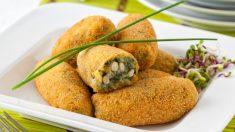 Receta de Croquetas de espinacas con queso y piñones
