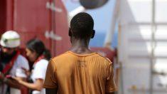 Inmigrantes rescatados en el Mediterráneo. (MSF)