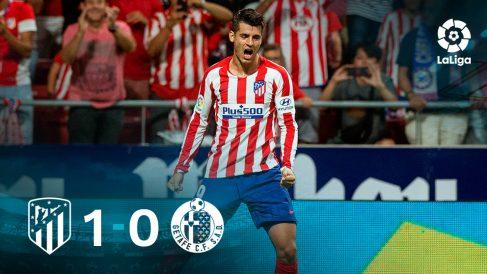 Álvaro Morata fue héroe y villano en el debut del Atlético en Liga.