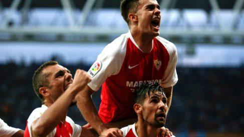 Sergio Reguilón celebra su gol ante el Espanyol (EFE)