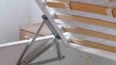 Cómo organizar una cama con canapé abatible paso a paso
