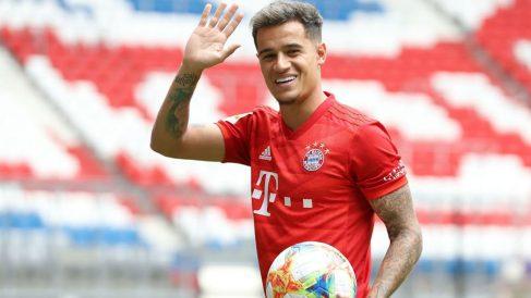 Coutinho, en su presentación como jugador del Bayern.