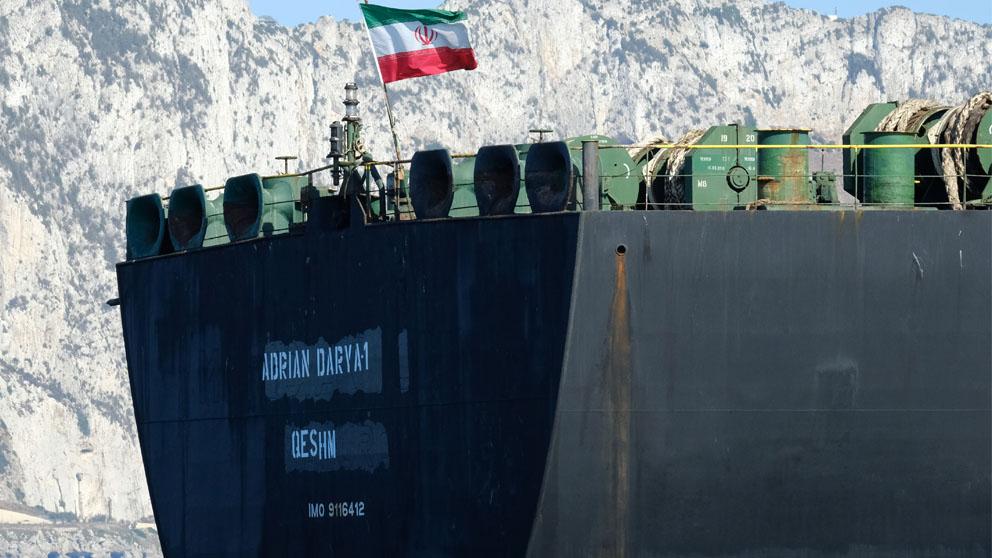 Darya 1 en Gibraltar (Foto: AFP)