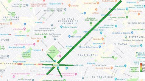 Imagen del mapa de la Diada separatista de la ANC hasta este lunes, 19 de agosto. (Foto: ANC)