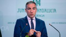 El consejero de Presidencia, Administración Pública e Interior y portavoz del Gobierno andaluz, Elías Bendodo. Foto: EP