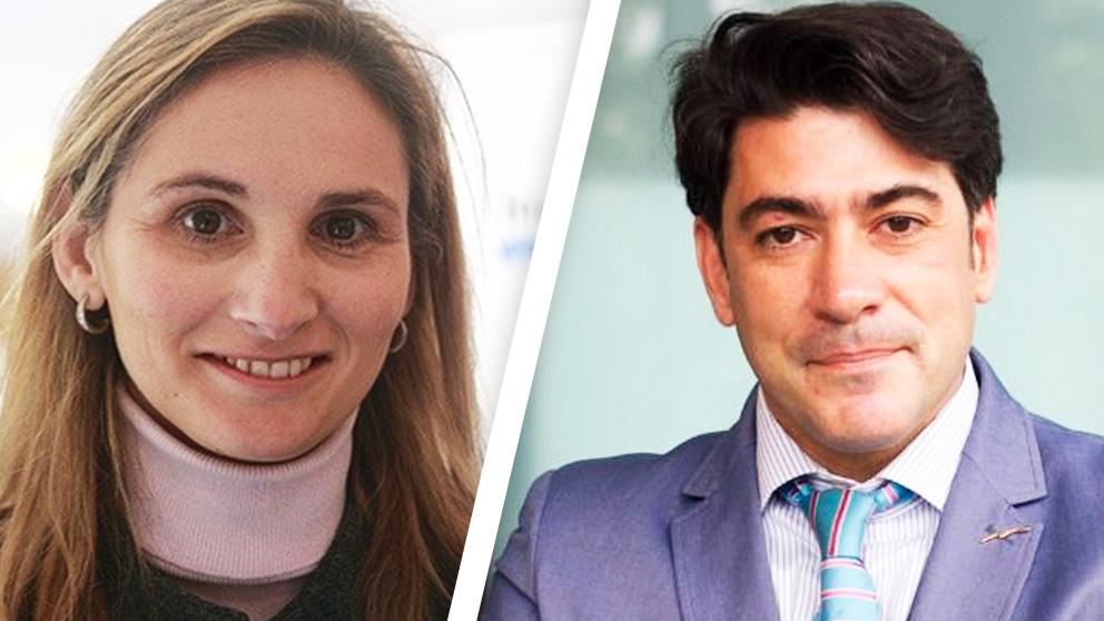 Paloma Martín y David Pérez.