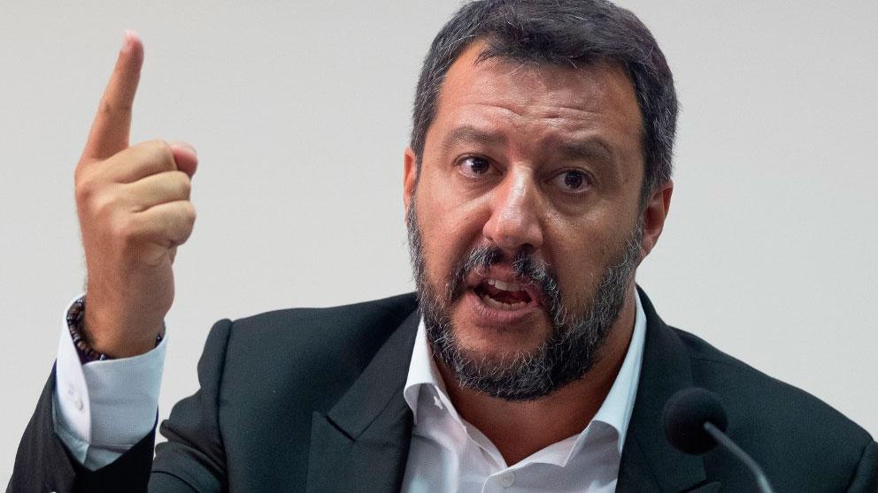 El ministro del Interior italiano, Matteo Salvini. Foto: AFP
