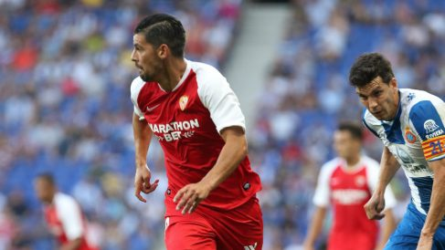 Nolito en el partido ante el Espanyol (@SevillaFC)