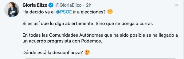 Podemos no entiende la «descorazonadora» respuesta del PSOE