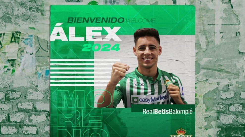 Álex Moreno, nuevo jugador del Betis (Real Betis)