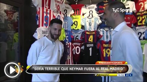 Leo Messi, en una entrevista con TyC Sports.