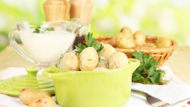 Patatas mimosas con nata