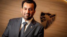 El dueño del Málaga, el jeque Al Thani.