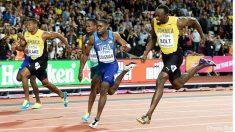 Coleman, en una de las últimas carreras contra Usain Bolt.