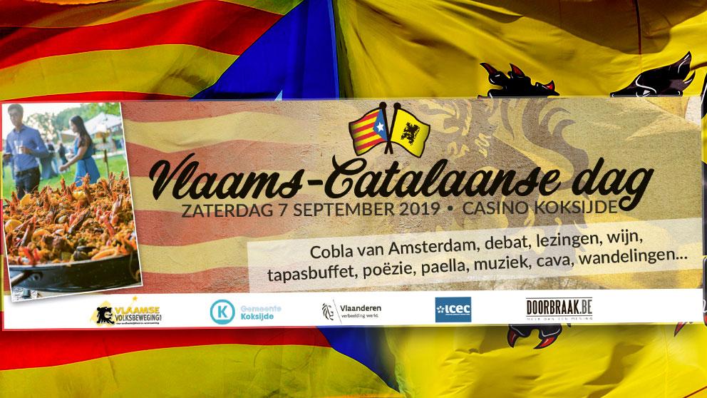 Uno de los carteles promocionales del 'Día Flamenco-Catalán', organizado por nacionalistas belgas.