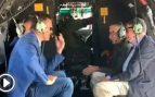Sánchez reaparece en Canarias con el incendio ya estabilizado y se graba en el helicóptero