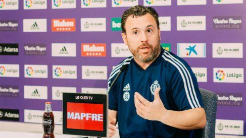 Sergio González en rueda de prensa (Real Valladolid)