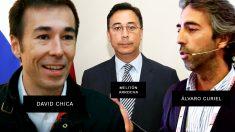 El director general de Mercamadrid, David Chica; el ex ministro de Panamá Melitón Arrocha y el ex directivo de Mercasa Álvaro Curiel.