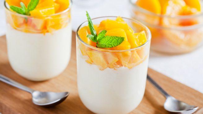 Receta de crujiente de yogur y mango