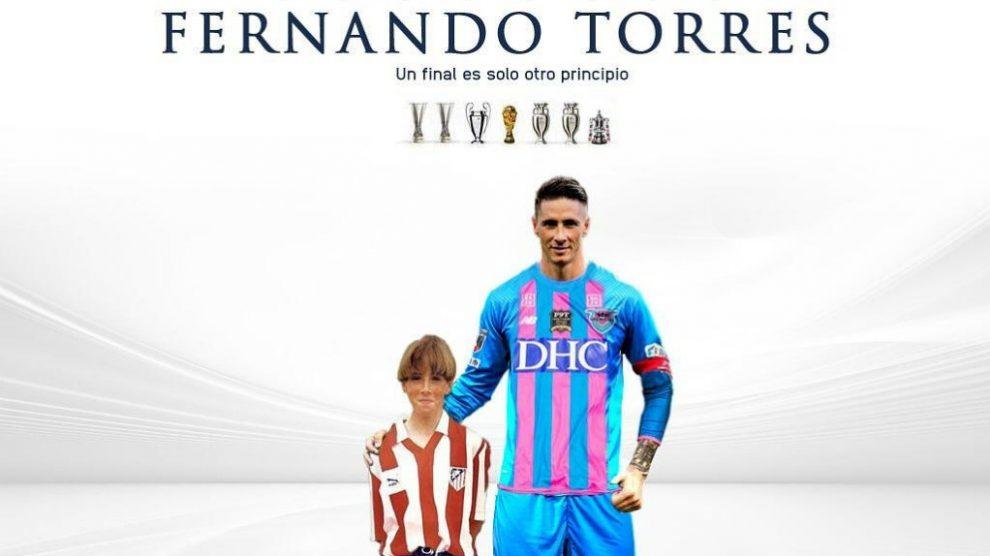 Fernando Torres compartió una emotiva imagen como despedida.