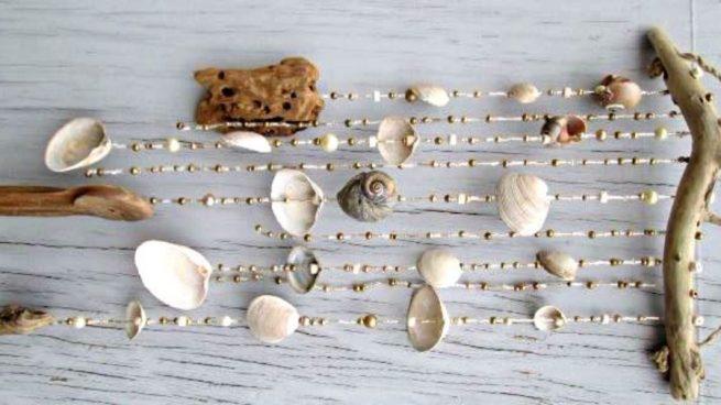 Pasos para hacer un móvil de conchas marinas