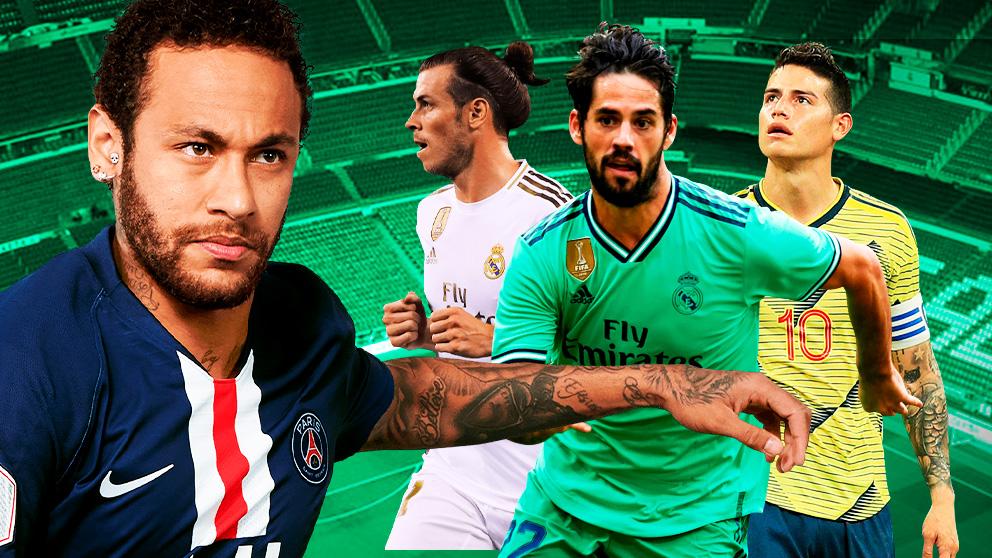 Isco, James o Bale tendrán que salir si llega Neymar.