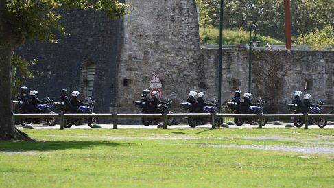 Policía vigilando el G7 (Foto: AFP)