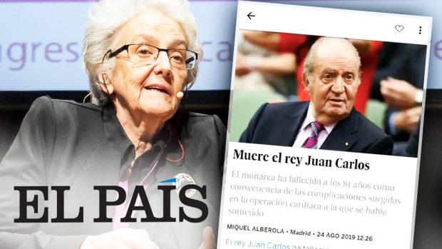 La directora de 'El País', Soledad Gallego-Díaz, y la noticia falsa sobre la muerte del rey emérito Juan Carlos I.