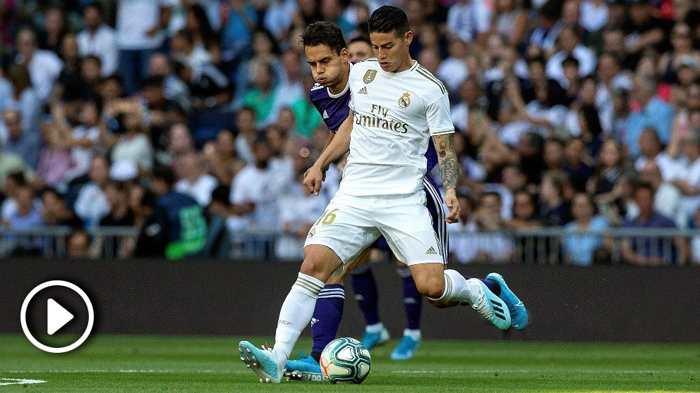 James regresó al Bernabéu como titular. (EFE)