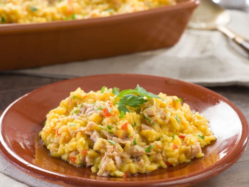 Receta de Arroz con atún al curry