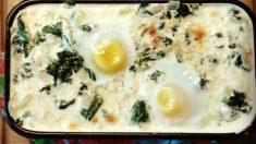Receta de Huevos al horno con calabacín