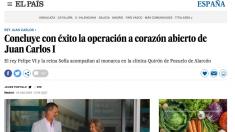 El diario El País ha publicado esta noticia a las 17:55 para desmentir su propia 'fake news'.