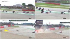 La espectacular caída de Dovizioso en el MotoGP Gran Premio de Gran Bretaña 2019.