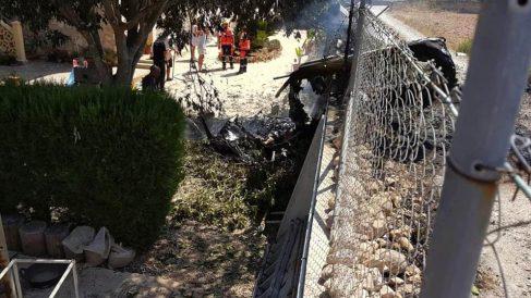 Restos del accidente aéreo en Mallorca (Foto: EFE)