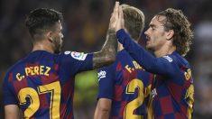 Messi celebra uno de sus goles. (AFP)